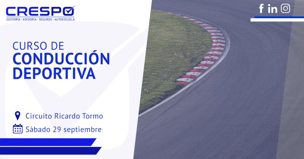 Curso conducción deportiva Circuito Ricardo Tormo
