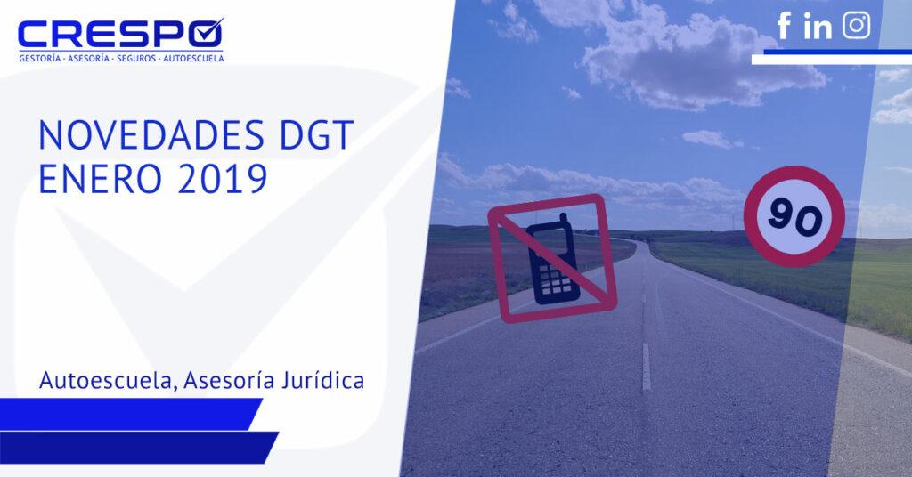 Novedades DGT enero 2019: límites de velocidad y multas