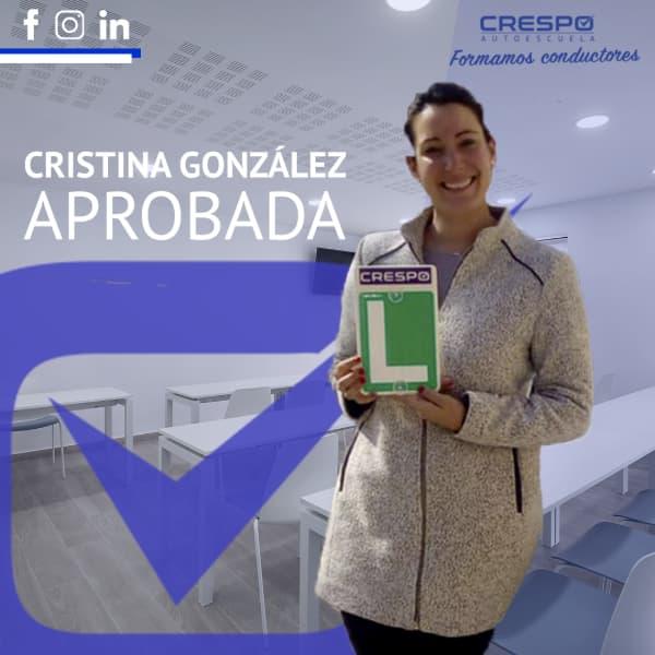 Aprobada Cristina González