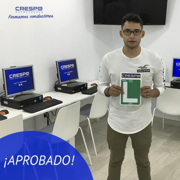 Esteven aprobado Autoescuela Crespo