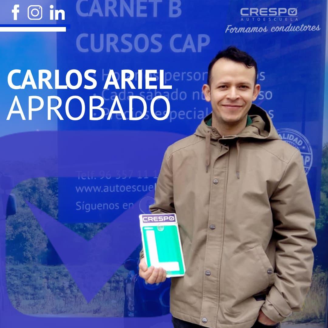 Carlos Ariel aprobado