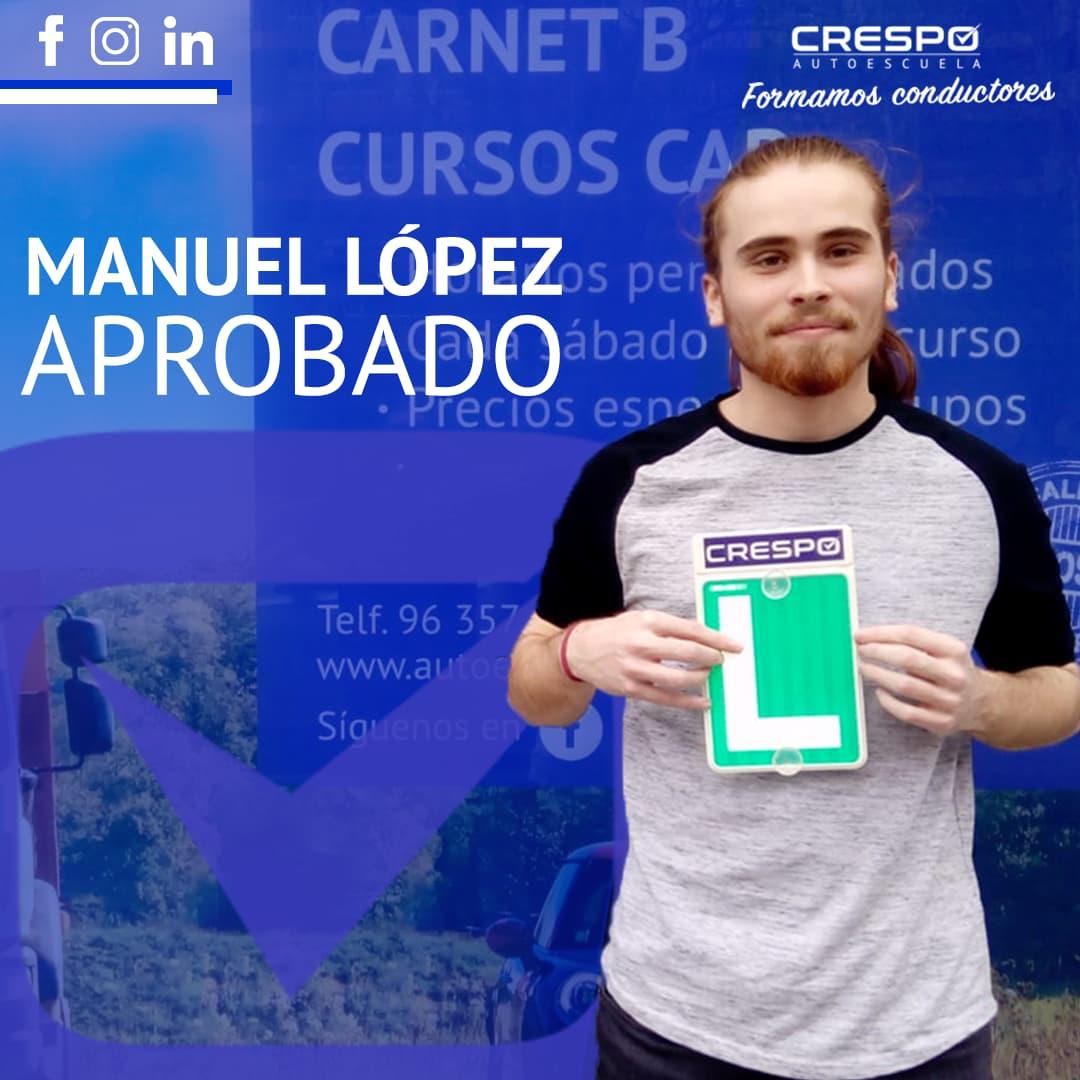 Manuel López aprobado