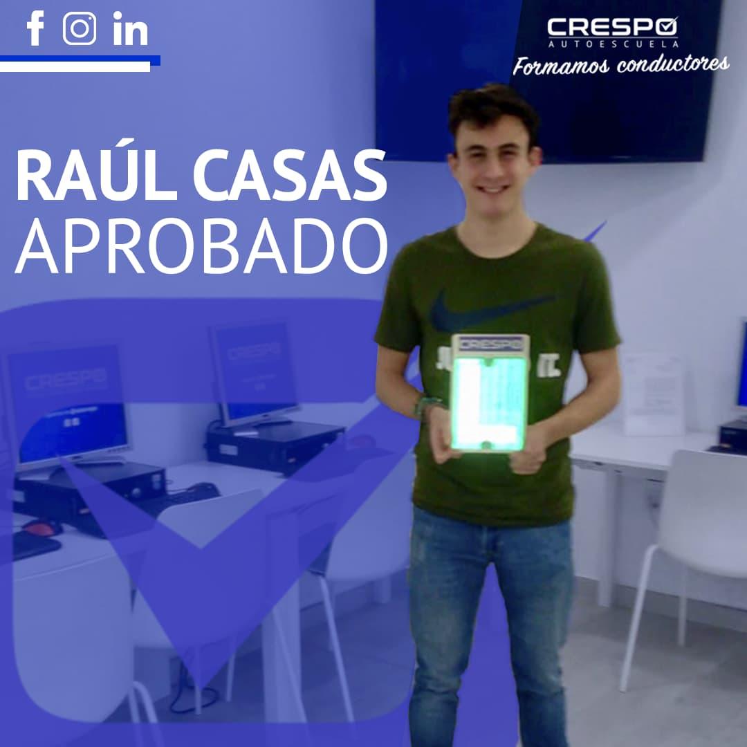 Raúl Casas Aprobado