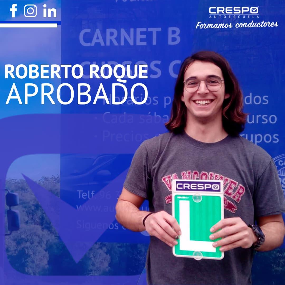 Roberto Roque aprobado