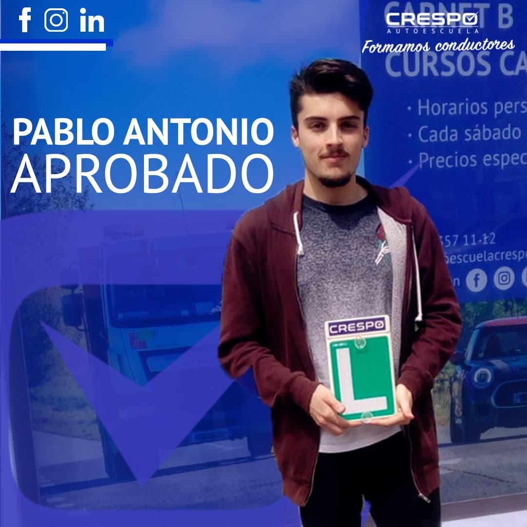 Pablo Antonio Aprobado