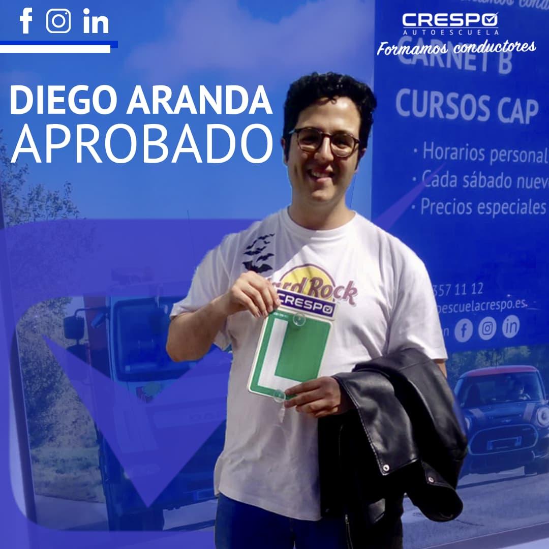 Diego Aranda aprobado