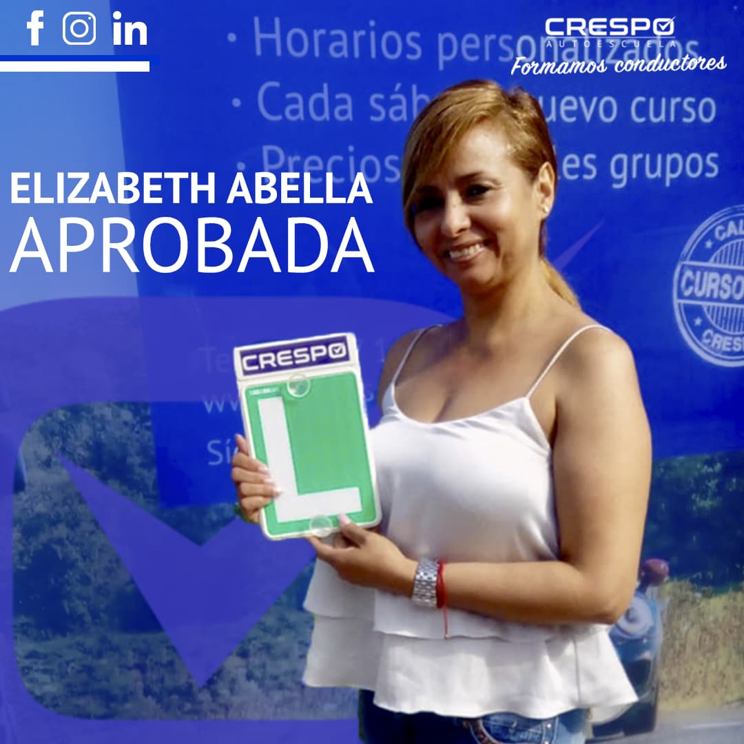 Elizabeth Abella aprobada