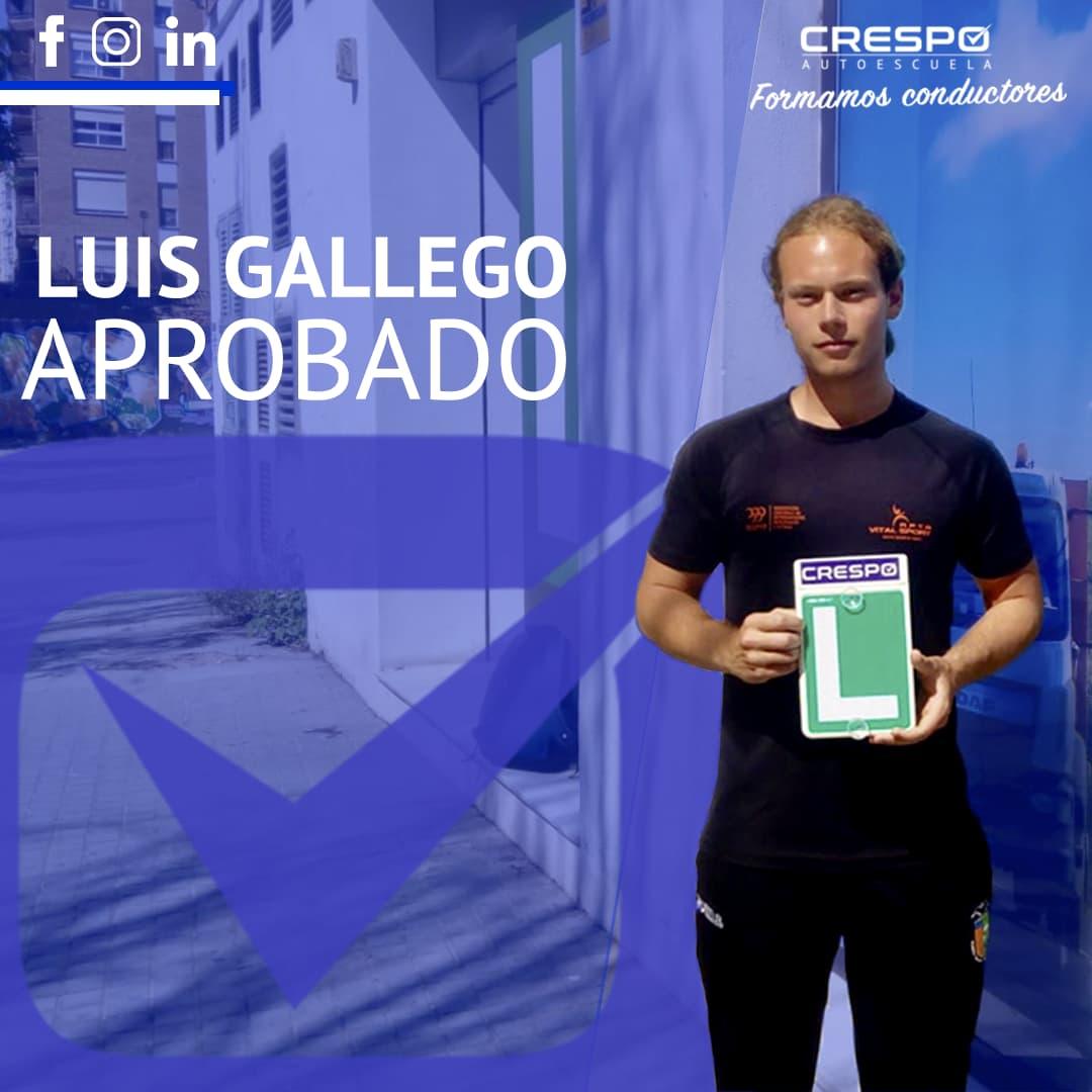Luis Gallego aprobado