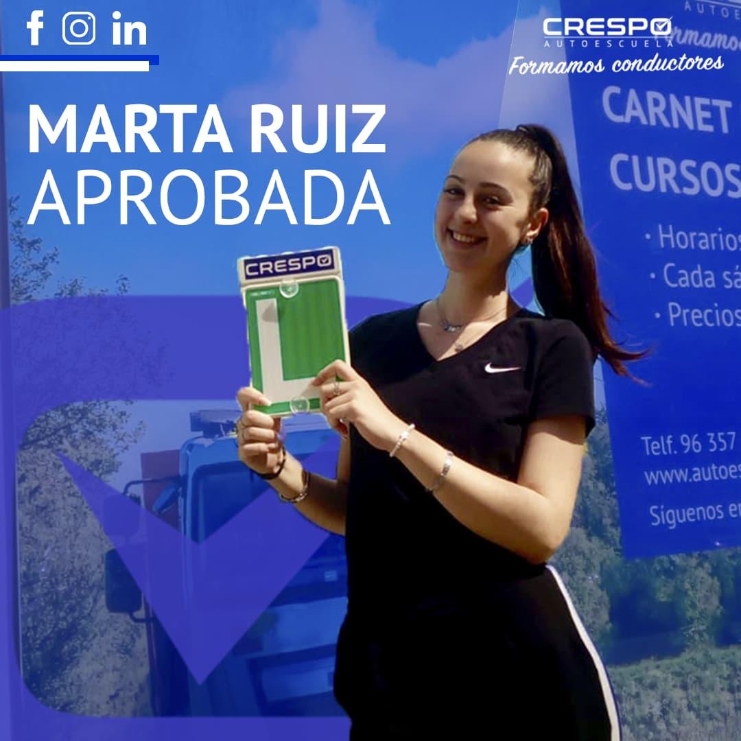 Marta Ruiz aprobada