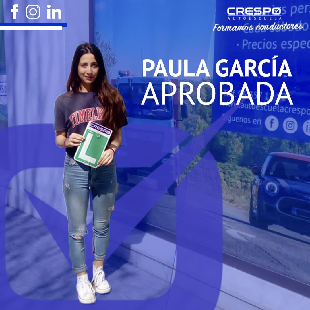 Paula García aprobada