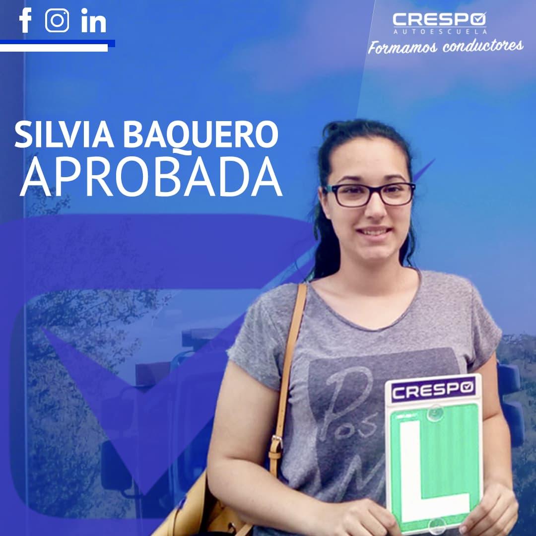 Silvia Baquero aprobada