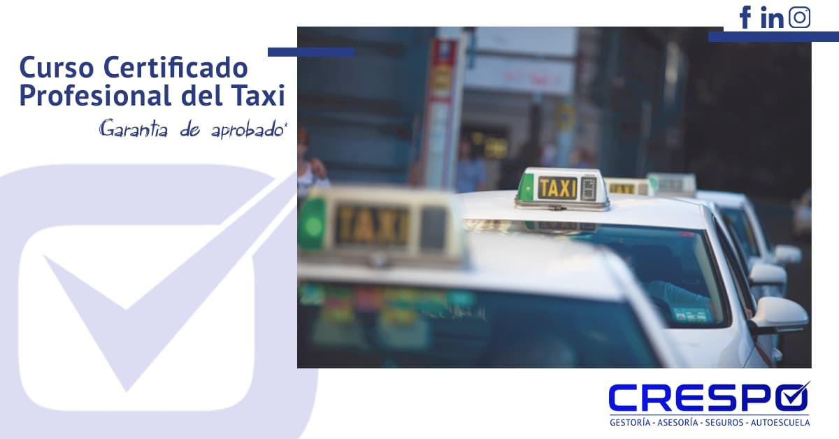 Certificado Profesional del Taxi